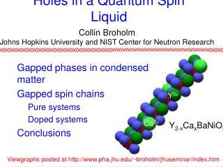 Holes in a Quantum Spin Liquid