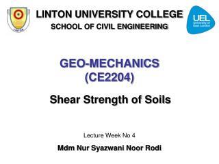 GEO-MECHANICS (CE2204)