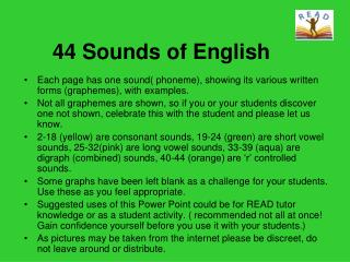 44 Sounds of English