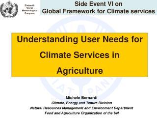 Side Event VI on  Global Framework for Climate services