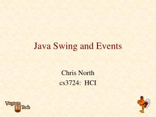 Java Swing and Events