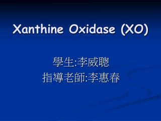 Xanthine Oxidase (XO)