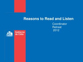 Reasons to Read and Listen