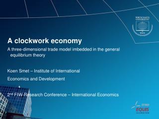 A clockwork economy