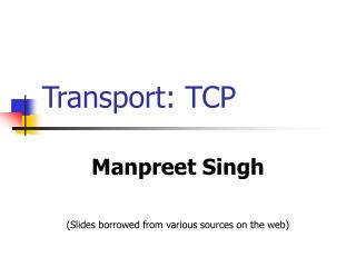Transport: TCP