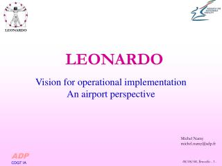 Vision for operational implementation  An airport perspective