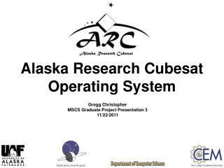 Alaska Research Cubesat Operating System