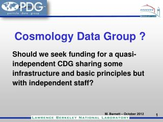 Cosmology Data Group ?