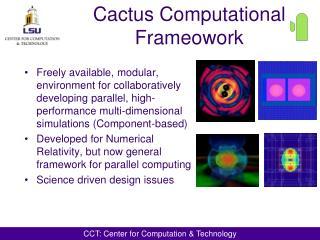 Cactus Computational Frameowork