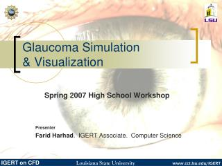 Glaucoma Simulation  & Visualization