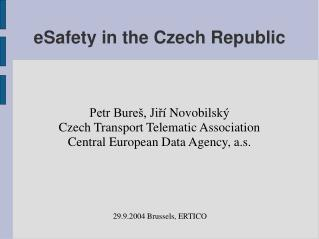 eSafety in the Czech Republic