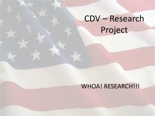 CDV – Research Project
