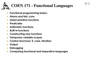 COEN 171 - Functional Languages