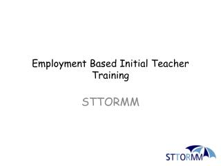 Employment Based Initial Teacher Training