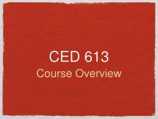 CED 613
