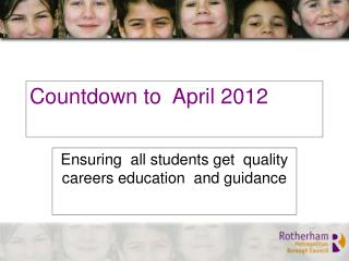 Countdown to  April 2012