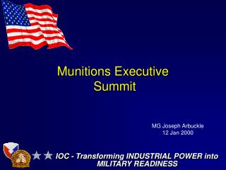 Munitions Executive  Summit