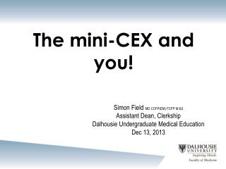 The mini-CEX and you!