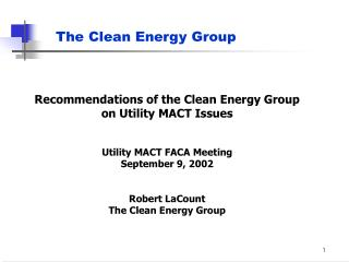 The Clean Energy Group