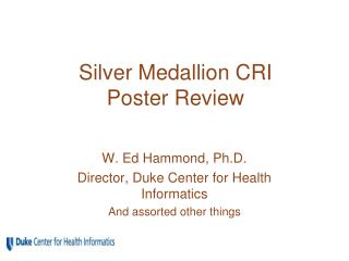 Silver Medallion CRI  Poster Review