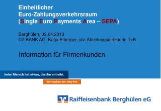 Information für Firmenkunden