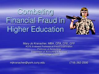 Combating Financial Fraud in Higher Education