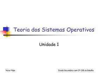 Teoria dos Sistemas Operativos