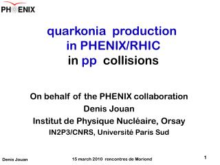 quarkonia   production  in PHENIX/RHIC  in  pp  collisions