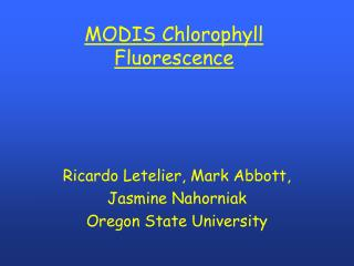 MODIS Chlorophyll Fluorescence
