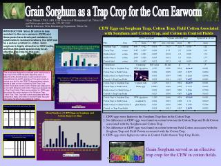 Grain Sorghum as a Trap Crop for the Corn Earworm