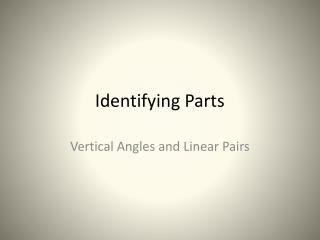 Identifying Parts