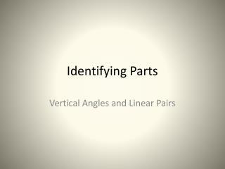 Identifying Parts