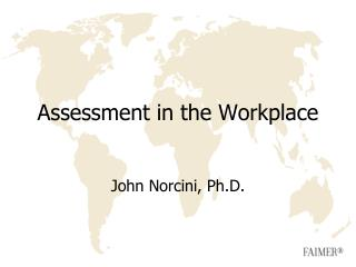 Assessment in the Workplace