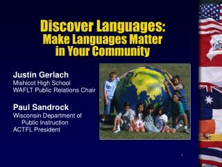 Discover Languages: Make Languages Matter in Your Community