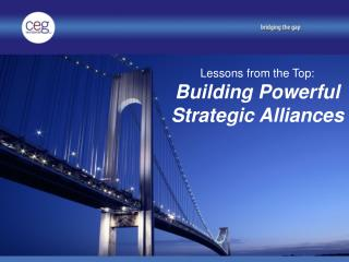 Lessons from the Top: Building Powerful Strategic Alliances