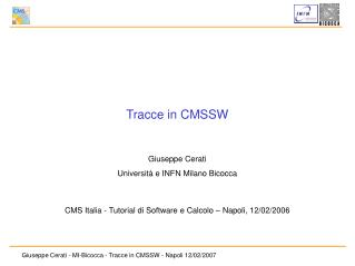 Tracce in CMSSW