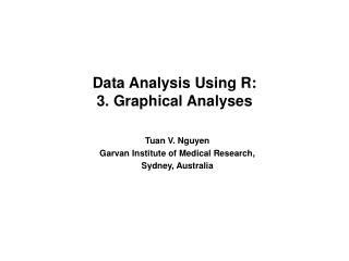 Data Analysis Using R: 3. Graphical Analyses