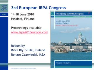 3rd European IRPA Congress