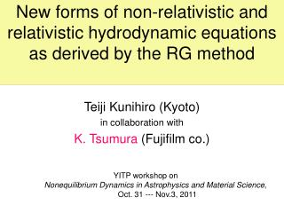 New forms of non-relativistic and relativistic hydrodynamic equations as derived by the RG method