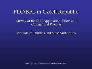 PLC/BPL in Czech Republic