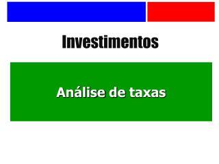 Análise  de  taxas