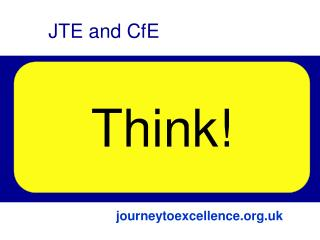 Links The Journey to Excellence Curriculum for Excellence Future