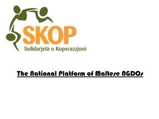 The National Platform of Maltese NGDOs