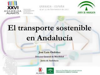 José Luis Ordóñez Director General de Movilidad Junta de Andalucía