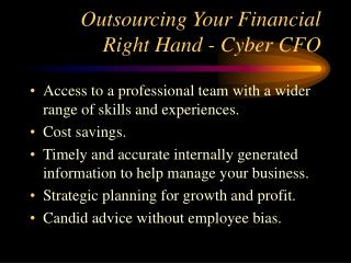 Outsourcing Your Financial Right Hand - Cyber CFO