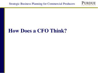 How Does a CFO Think?