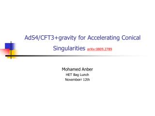 AdS4/CFT3+gravity for Accelerating Conical Singularities  arXiv:0809.2789