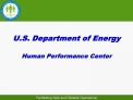 U.S. Department of Energy  Human Performance Center