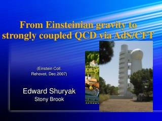 From Einsteinian gravity to strongly coupled QCD via AdS/CFT