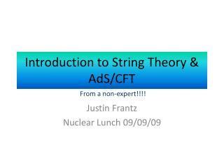Introduction to String Theory & AdS/CFT